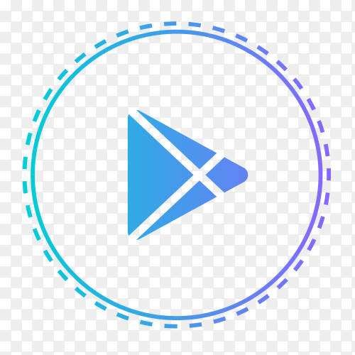 Google Play logo in points circle vector PNG