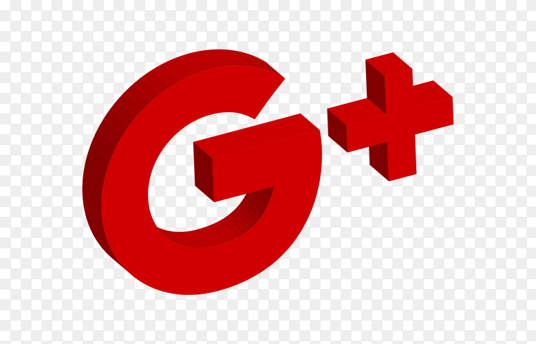 Google Plus icon 3D vector PNG