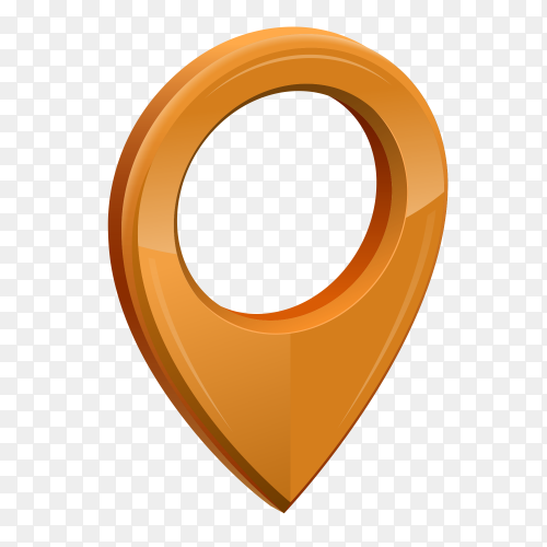 Gps location icon 3D Clipart PNG