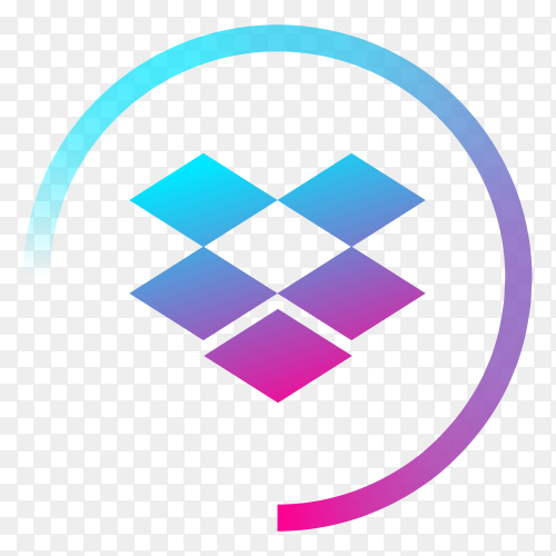 Gradient logo Dropbox vector PNG