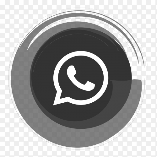 Gray Whatsapp logo vector PNG