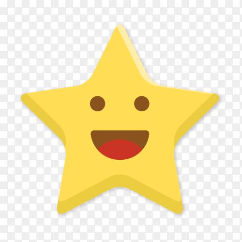 Grinning star emoji vector PNG