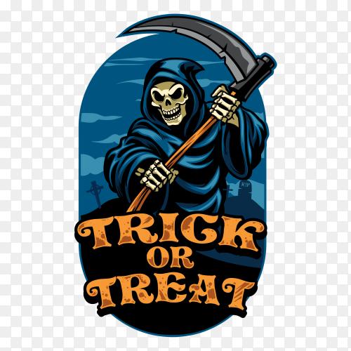 Halloween design grim reaper vector PNG