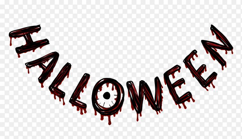 Halloween ghost word vector PNG