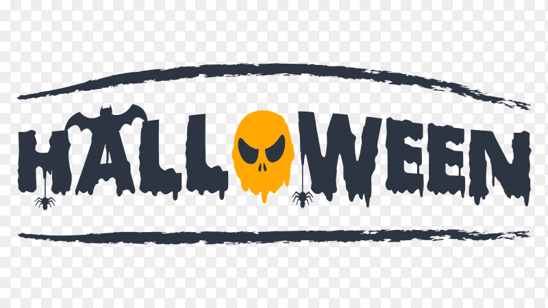 Halloween party typographic design Clipart PNG