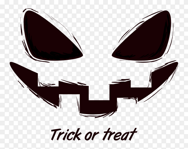 Halloween trick or treat text vector PNG