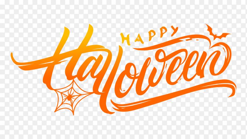 Happy halloween calligraphy vector PNG