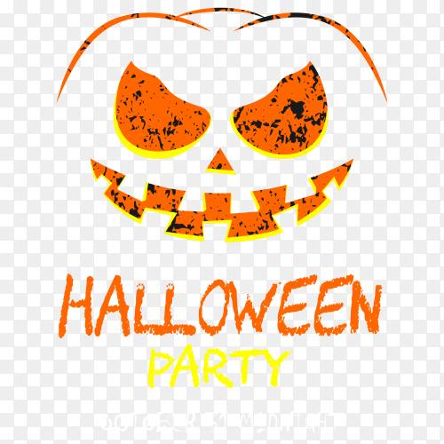 Happy halloween party Design shirt vector PNG