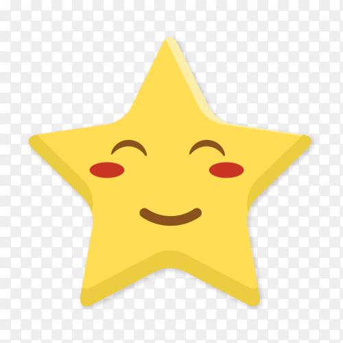 Happy star emoji clip art PNG