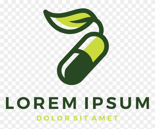 Herbal capsule logo clipart PNG
