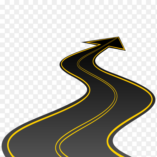 Highway Arrows  Road vector PNG