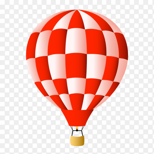 Hot air balloon cartoon on transparent background PNG