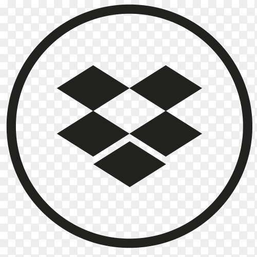 Icon Dropbox In circle vector PNG