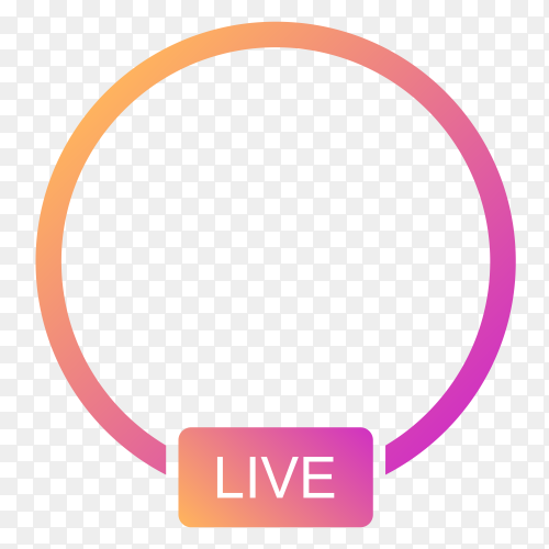 Icon avatar frame live in Instagram ClipRt PNG
