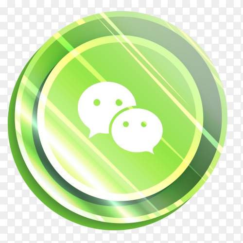 Illuminated logo Wechat  vector PNG