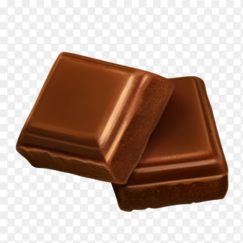 Illustration of broken chocolate bar vector PNG