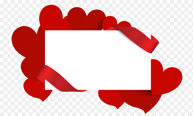 Illustration of valentines day greeting card vector PNG