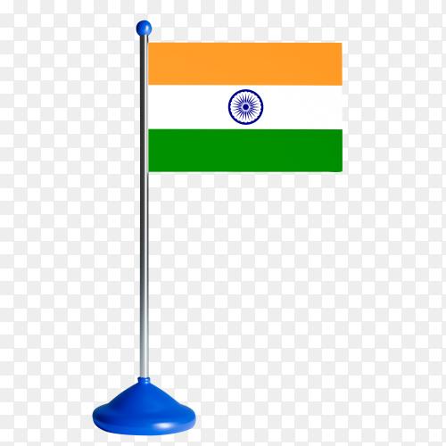 India flag waving premium clipart PNG