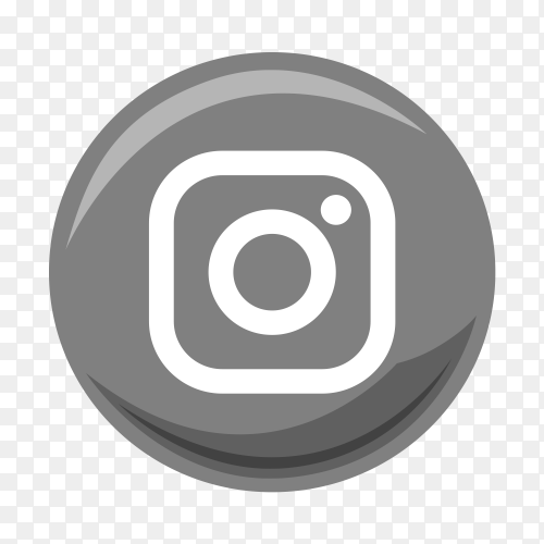 Instagram gray and white logo vector PNG