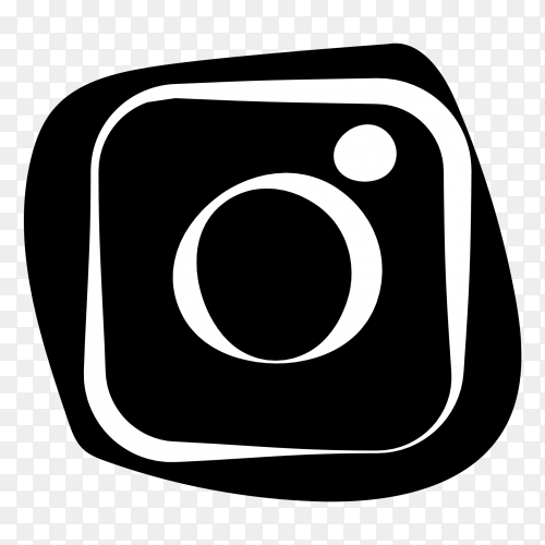 Instagram logo balck and white vector PNG