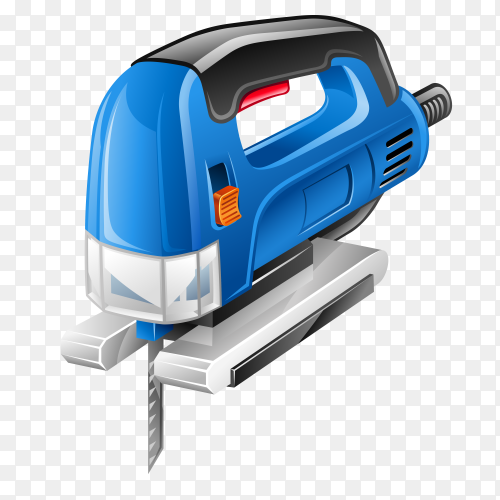 Jigsaw Power Tool on transparent background PNG