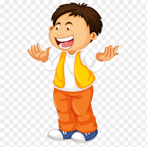 Laugh boy on transparent background PNG