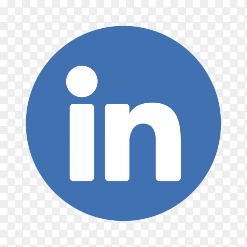 Linkedin logo on transparent PNG
