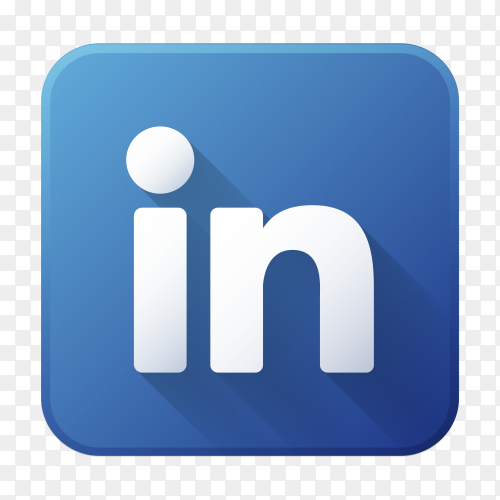Linkedin on transparent PNG