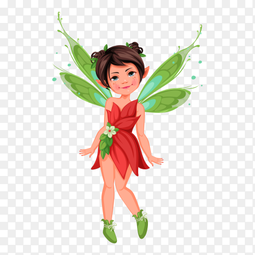 Little fairy standing pose Preumire vector PNG