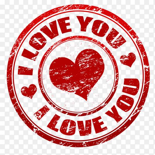 Love badge on transparent PNG