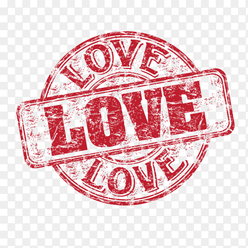 Love badge vector PNG
