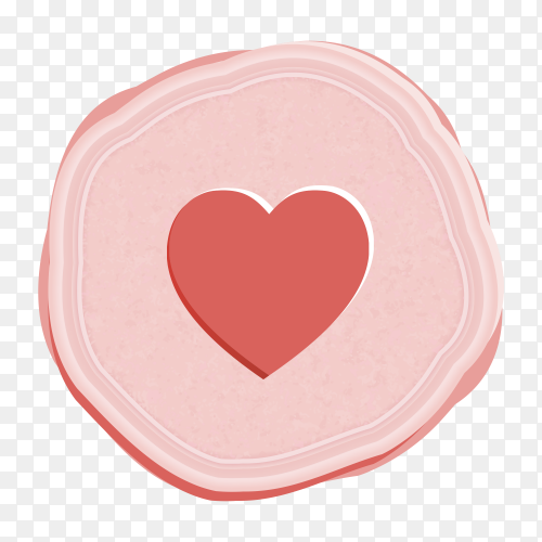 Love icon social network style vector PNG