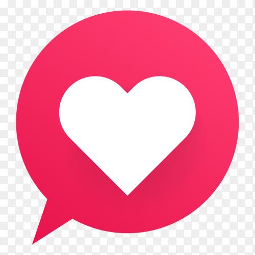 Love icons social media vector PNG