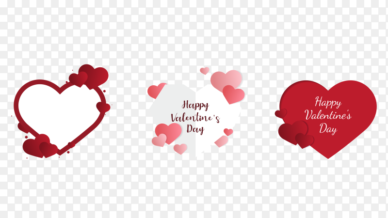 Lovely valentine's day card on transparent PNG