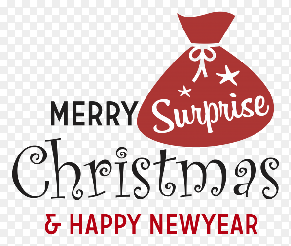 Merry Christmas and happy new year decoration Premium Vector PNG