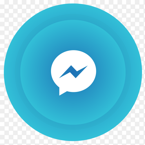 Messenger logo in gradient circle vector PNG