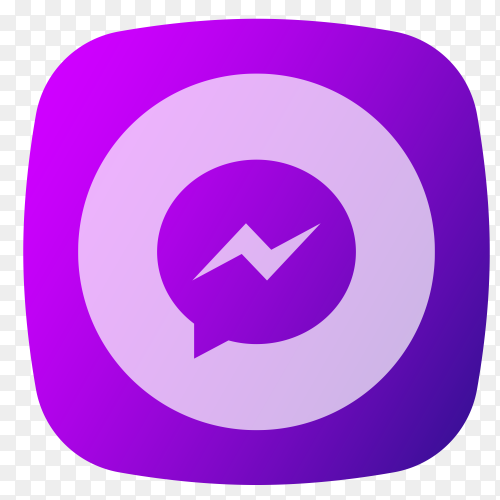 Messenger logo purple vector PNG