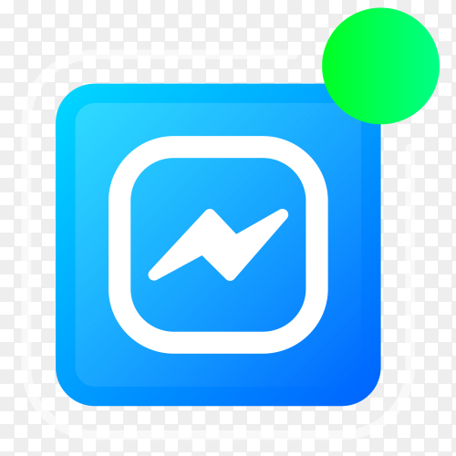 Messenger logo with notifications icon vector PNG