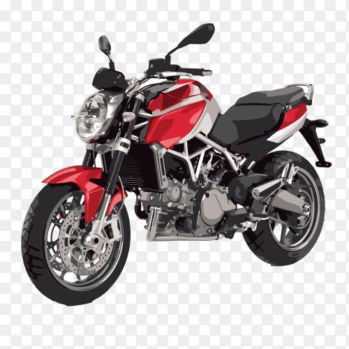 Motorcycle biker on transparent background PNG