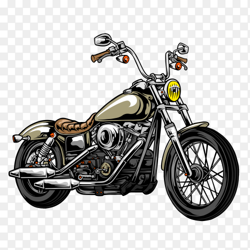 Motorcycle poster in american desert on transparent background PNG