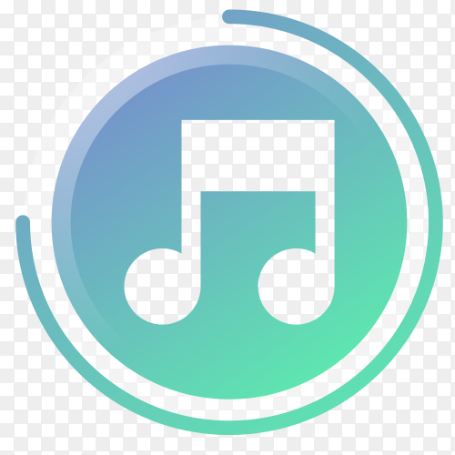 Music icon gradient vector PNG