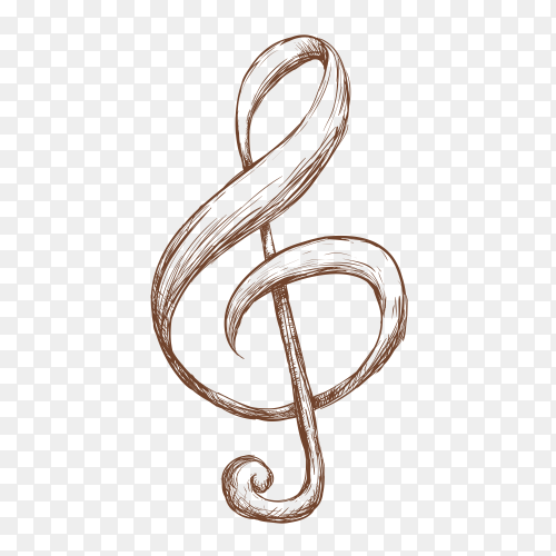 Music instruments notes on transparent background PNG
