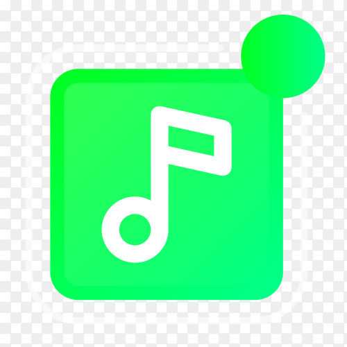 Music logo with notifications icon vector PNG