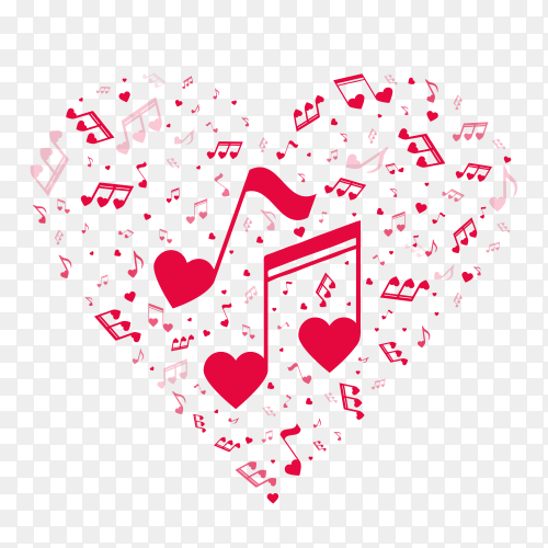 Music love with transparent PNG