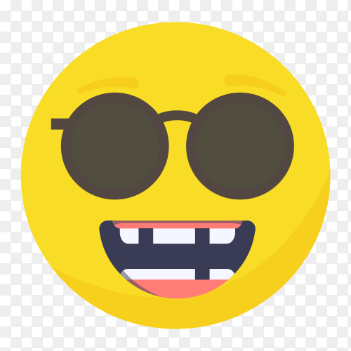 Nerd emoji face on transparent background PNG