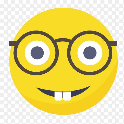 Nerd emoji face vector PNG