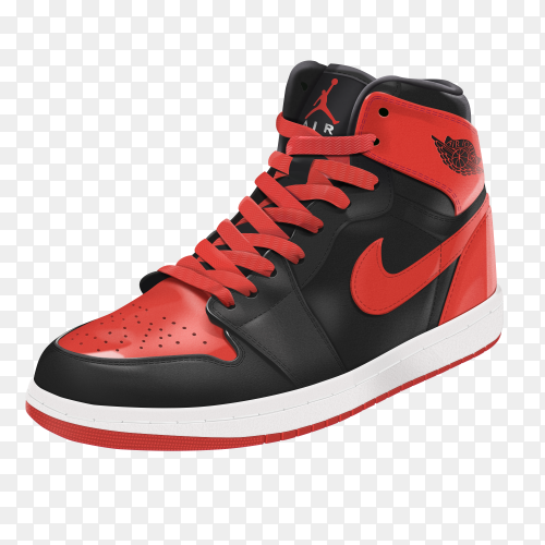 Nike Half boot on transparent PNG