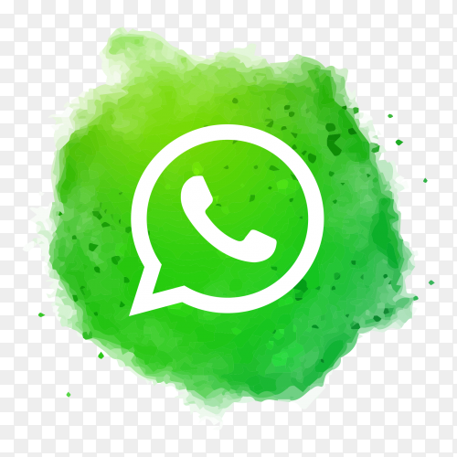 Oil Drawn Whatsapp logo Premium vector PNG