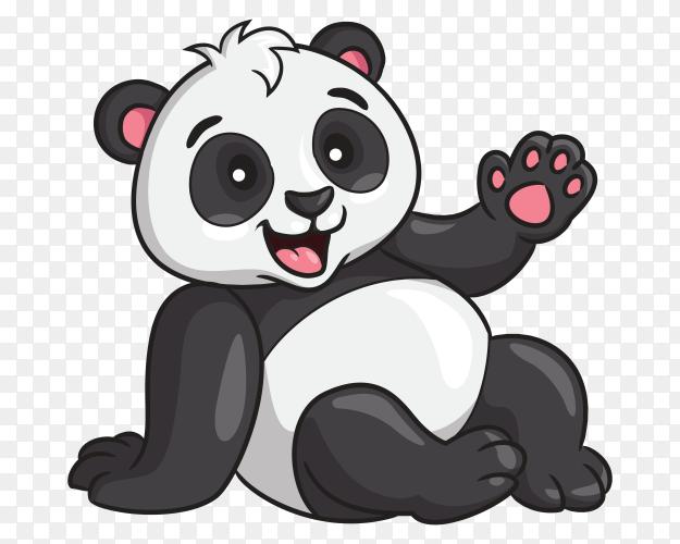 Panda cartoon style vector PNG