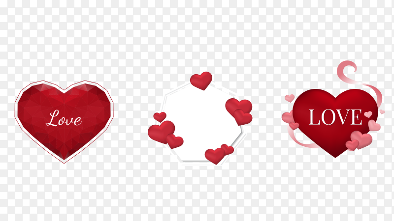 Panoramic valentine's day banner Clipart PNG